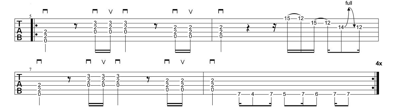1. Daļa + Variācijas - AC-DC - Back In Black - Ģitārspēles Nodarbība - Gitarspele.lv