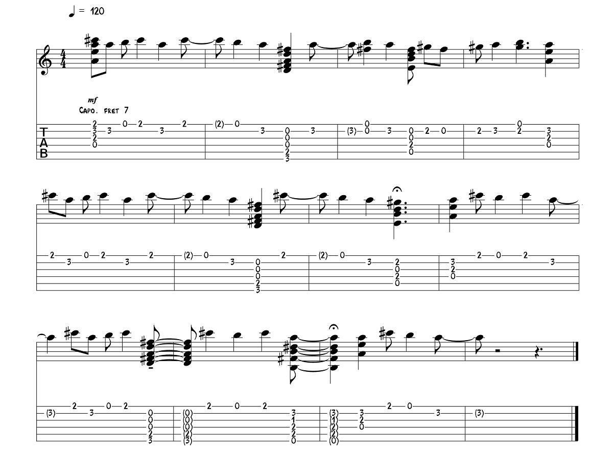 1.daļa – The Beatles - Here Comes The Sun – Ģitārspēles nodarbība – Gitarspele.lv