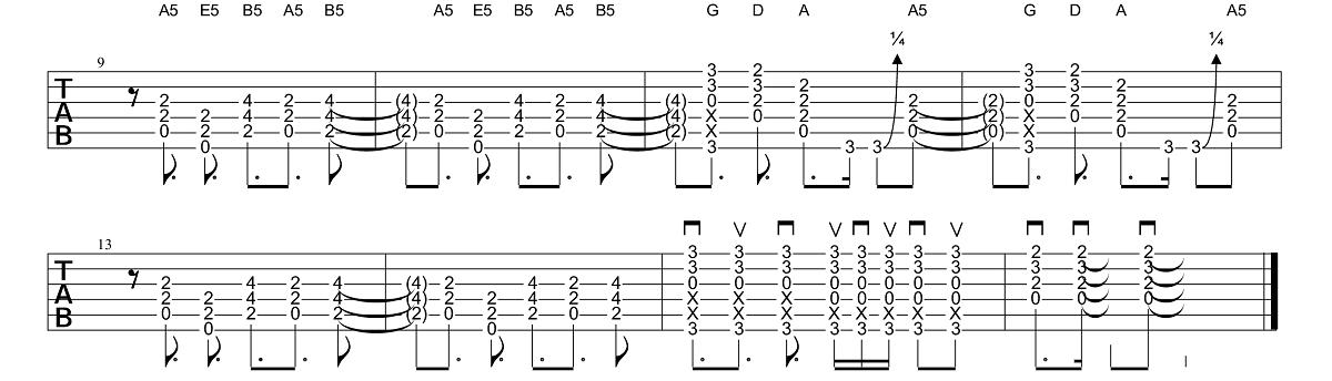 2. Daļa - AC-DC - Back In Black - Ģitārspēles Nodarbība - Gitarspele.lv