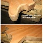2. Korpuss pirms sāna maliņu frēzēšanas (binding)  - gitarspele.lv