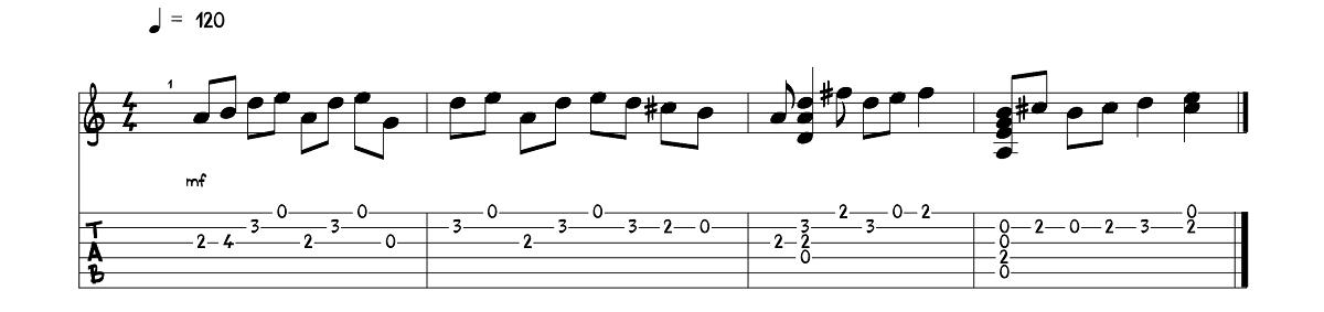 2.daļa – The Beatles - Here Comes The Sun – Ģitārspēles nodarbība – Gitarspele.lv