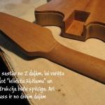 4. Grifs sastāv no 2 daļām, lai varētu izveidot ieliektu šķēlumu - gitarspele.lv