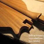 5. Grifs un korpuss pirms kopā salīmēšanas (Glued-in Neck tehnika) - gitarspele.lv