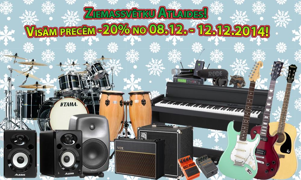 ATTRADEMUSIC  Ziemassvētku atlaides 2014