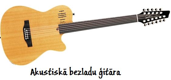 Bezladu akustiskā ģitāra