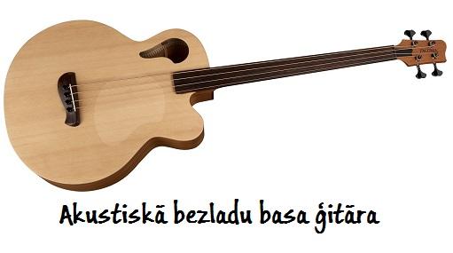 Bezladu akustiskā basa ģitāra