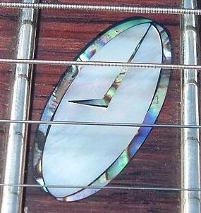 Caparison clock inlay