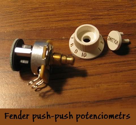 Fender push-push potenciometrs