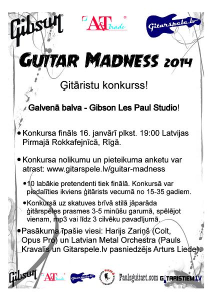 GUITAR MADNESS 2014 plakāts