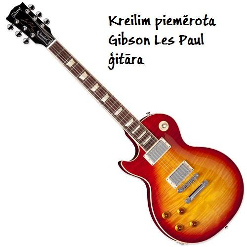 Kreiļu ģitāra Gibson Les Paul