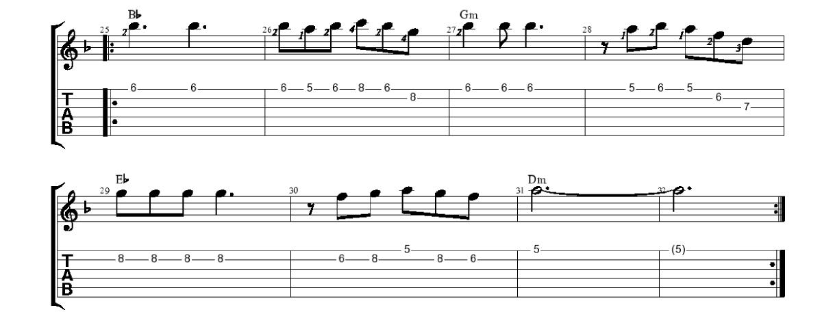 Melodija-3-daļa-piedziedājums-www.gitarspele.lv