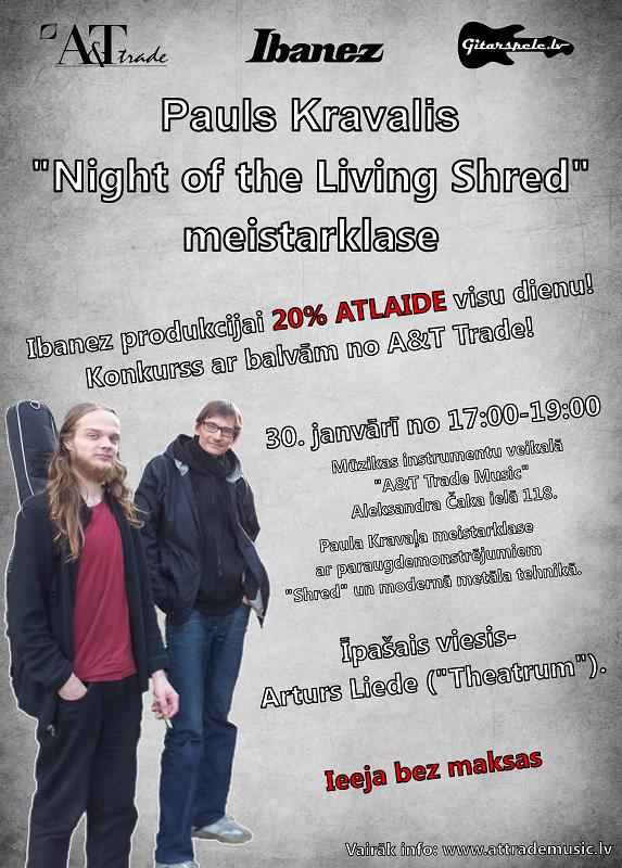 Night of living Shred Gitarspele_lv