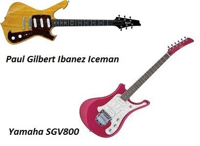 Paul Gilberta Ibanez Iceman un yamaha SGV 800 - gitarspele.lv