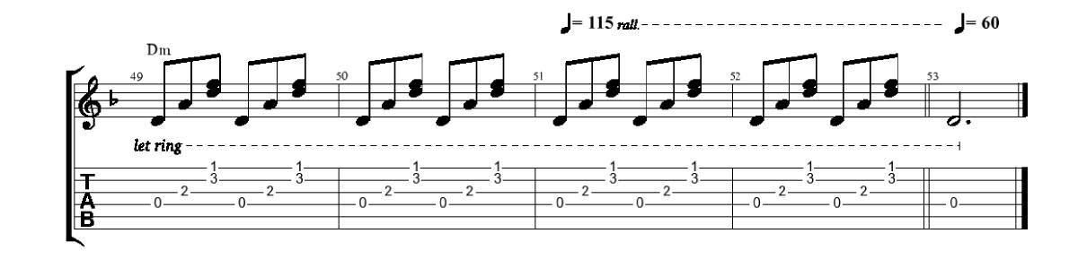 Pavadījums-Nobeigums-www.gitarspele.lv