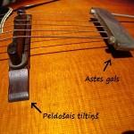 Ģitāras tiltiņi akustiskajām ģitārām (bridge)