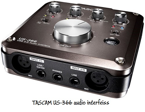 Tascam-US-366 Interfeiss