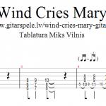 Wind Cries Mary – Ģitāras Rifiņš